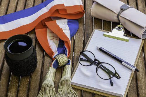 L'écharpe tricolore d'un maire en France